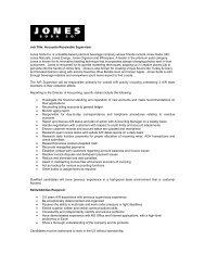 Job Title: Accounts Receivable Supervisor Jones Soda Co. is a ...