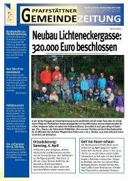 Gemeindezeitung März 2013 - Pfaffstätten
