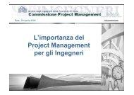 Project Management - Ordine degli Ingegneri della provincia di Roma