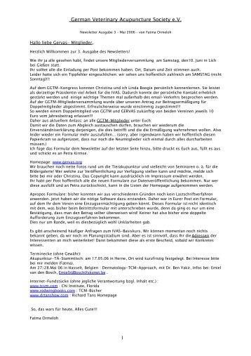 Newsletter Nr. 3 (Mai 2006) - Gervas.org