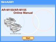 AR-M150/M155 Operation-Manual GB - Sharp