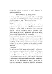 Classificateurs neuronaux et statistiques sur images ... - Circe