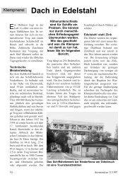 Dach in Edelstahl