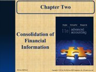 Consolidation of financial information - Anna Lee