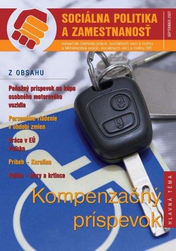 September 2007 - Ústredie práce, sociálnych vecí a rodiny