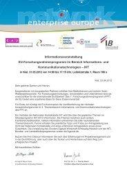 Agenda - EEN - Hamburg / Schleswig-Holstein