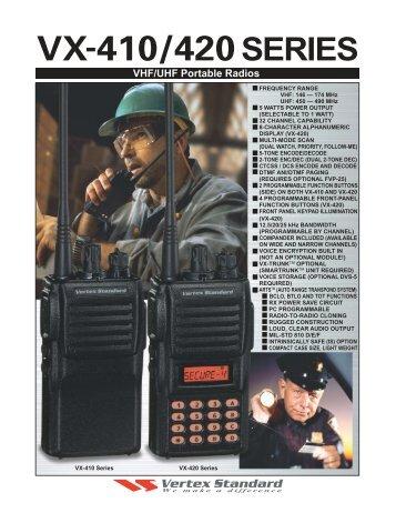 VX-410/420 Portables
