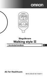 Walking style - Omron Healthcare