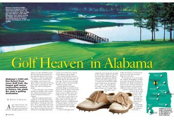 Alabama's $145 mil- lion Robert Trent Jones Golf Trail, the largest ...