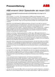 Pressemitteilung - ABB - ABB Group