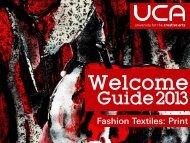 Guide: BA (Hons) Fashion Textiles: Print - UCA Community