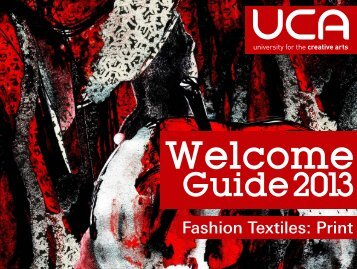 Guide: BA (Hons) Fashion Textiles: Print - UCA Community
