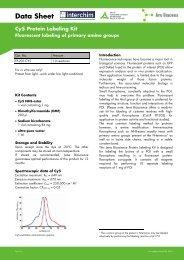 Data Sheet Cy5 Protein Labeling Kit - Interchim