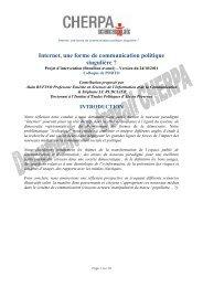 Internet, une forme de communication politique ... - Sciences Po Aix