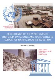 proceedings of the wmo/unesco sub-forum on science - WHYCOS