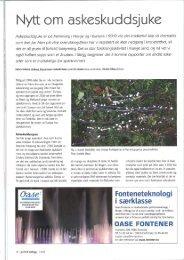 Nytt om askeskuddsjuke - Skog og landskap