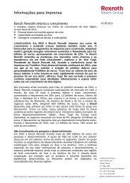 Informações para Imprensa - Bosch Rexroth