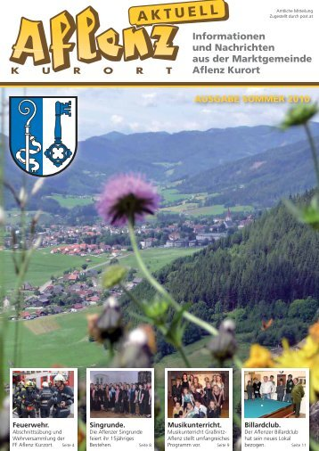 Informationen und Nachrichten aus der ... - Aflenz Kurort