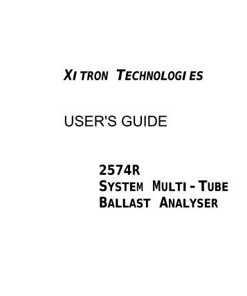 257xR User's Guide - Xitron Technologies
