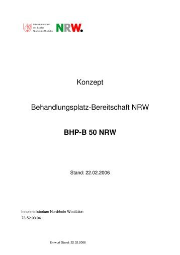 Erlass des Innenministers NRW
