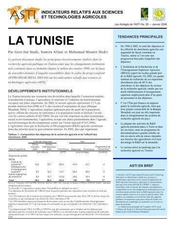 Téléchargez au format PDF - ASTI - cgiar