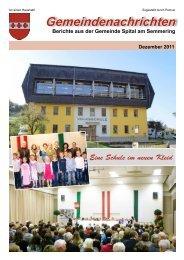 Gemeindenachrichten - Spital am Semmering