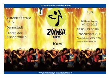 zumba Flyer party neuer kursa ab mittwochs 07.03.2012 ...