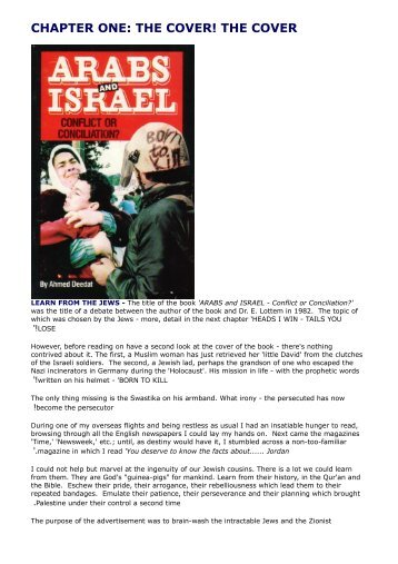 Arabs And Israel Conflict Or Conciliation - Kalamullah.Com