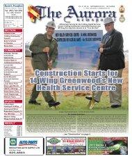 Sept 20 2010 - The Aurora Newspaper