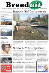 Breeduit 31 jan. 2013 (pdf) - Gemeente Smallingerland