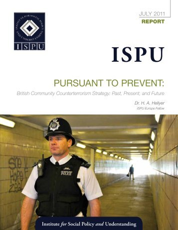 Pursuant to Prevent: - Institute for Social Policy and Understanding