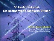 50 Hertz Frekanslı Elektromanyetik Alanların Etkileri Prof. Dr. Özcan ...