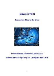 MANUALE UTENTE Procedura Ricorsi On Line Trasmissione ...