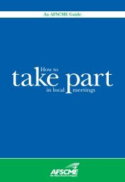 How to Take Part in Local Meetings - AFSCME