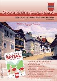 Gemeindezeitung_2009.. - Spital am Semmering