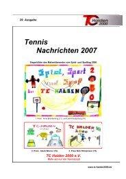Tennis Nachrichten 2007 - TC Halden 2000