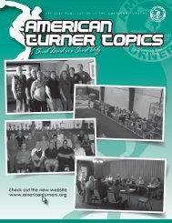 Check out the new website www.americanturners.org