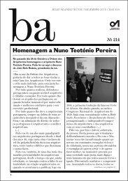 Homenagem a Nuno Teotónio Pereira - Ordem dos Arquitectos
