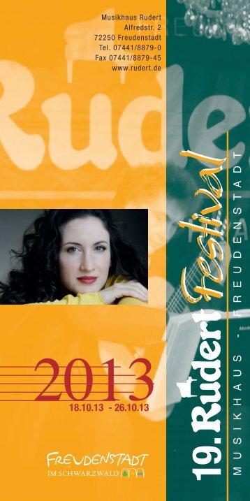 Flyer zum Rudert-Festival - Marianne Martin