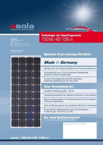 150 W / 40-156 m - asola