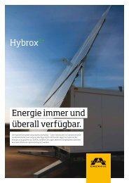 Hybrox2+ Energie immer und überall verfügbar. - Alpine Energie