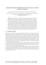 Automated Scoring of Handwritten Essays based on Latent - CEDAR