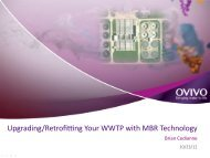 Upgrading/Retrofitting Your WWTP with MBR Technology