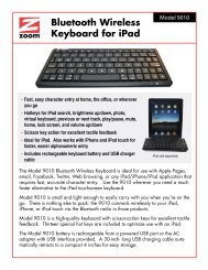 Bluetooth Wireless Keyboard for iPad - CMI Labs