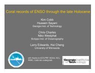 Coral records of ENSO through the late Holocene