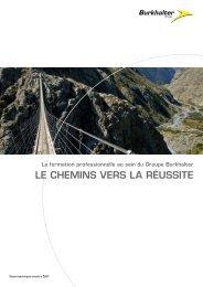 Le cHeMins Vers LA réussite - Burkhalter