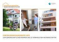 Fortbildungsangebote 2013 - Wohnprojekte Portal