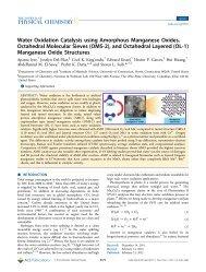 Water Oxidation Catalysis using Amorphous Manganese Oxides ...