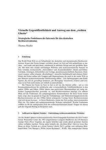 Virtuelle Gegenöffentlichkeit und Ausweg aus dem ... - MIK NRW