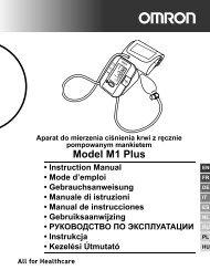 Model M1 Plus - Omron Healthcare